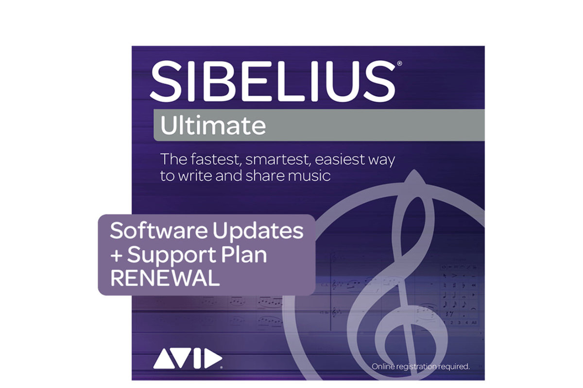 AVID Sibelius Ultimate Upgrade + Support Plan Renewal