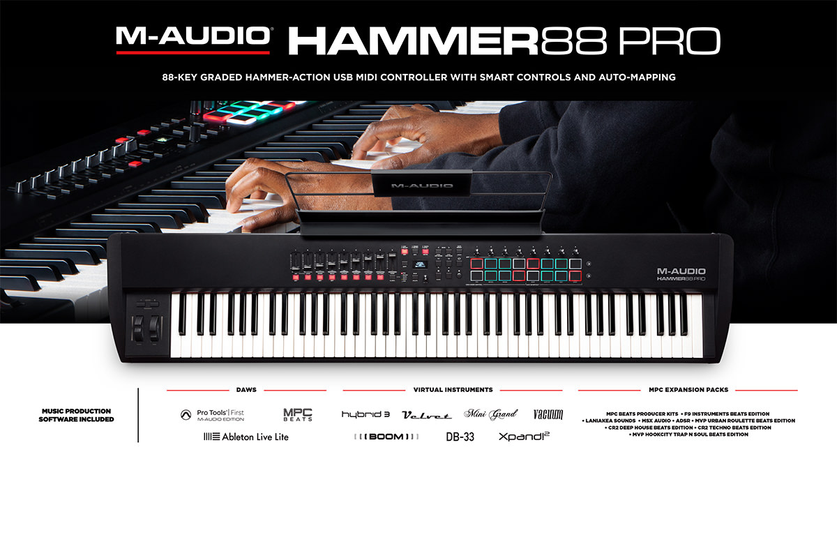M-Audio introduces the Hammer 88 Pro