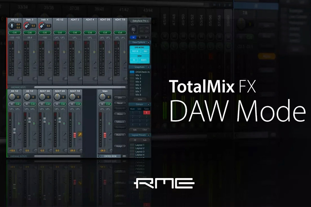 TotalMix FX for Beginners - DAW MODE for RME Audio Interfaces