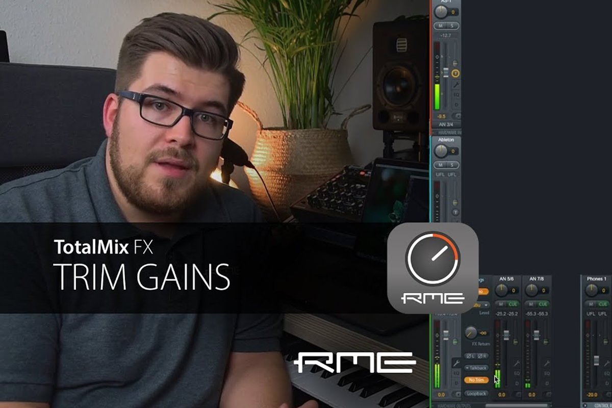 TotalMix FX for Beginners - Trim Gains