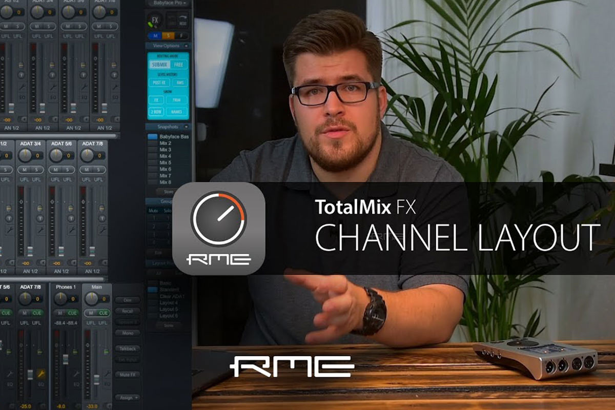 TotalMix FX for Beginners - Customizing Channel Layout