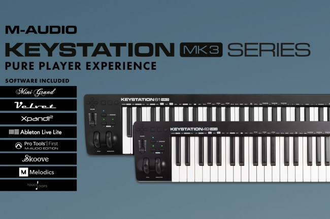 M-AUDIO® UPDATES THEIR RENOWNED KEYSTATION SERIES
