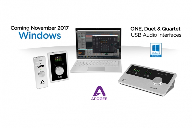 Apogee - Windows 10 Compatibility for ONE, Duet and Quartet