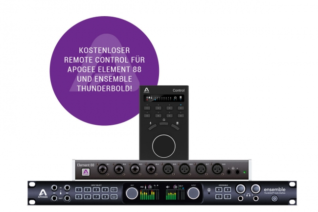 Buy Ensemble Thunderbolt or Element 88 Get Apogee Control FREE!
