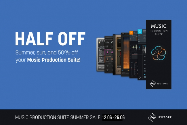 iZotope - 50 % off Music Production Suite