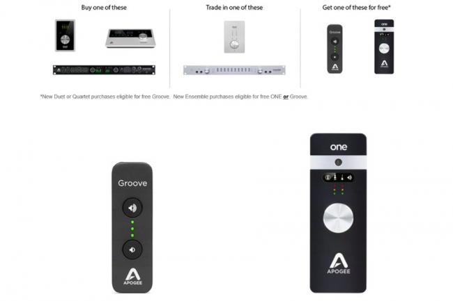 APOGEE FIREWIRE TRADE-IN PROGRAMM