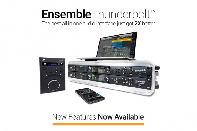 Apogee - Ensemble Thunderbolt New Feartures
